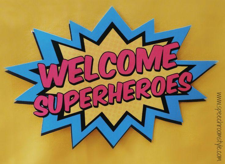 Resultado de imagen de superhero classroom decorations