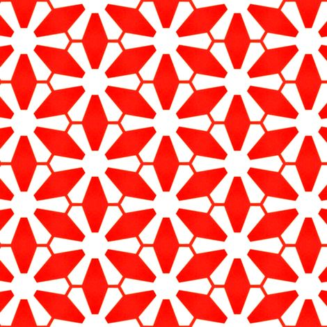 Maes Red fabric by stoflab on Spoonflower - custom fabric
