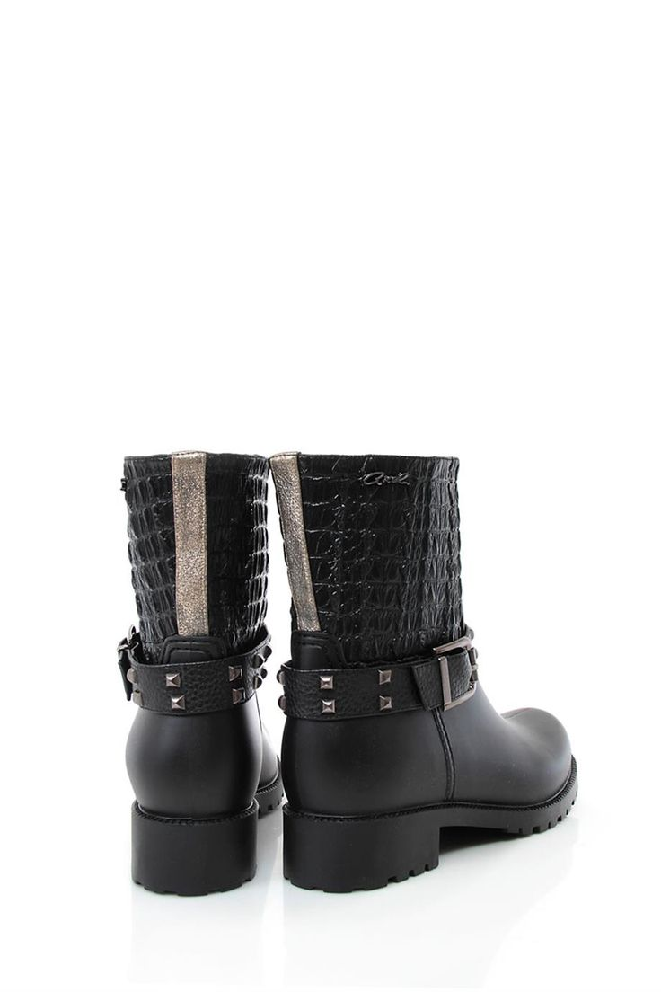 RAIN BOOT W/T STRAP AND CROC DETAILS Axel Accessories : ESHOP