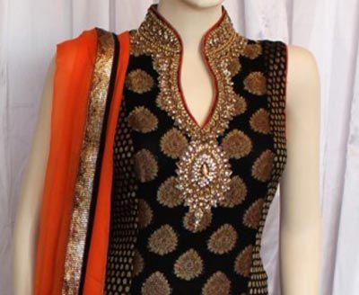 2015 Fancy Beautiful Stylish Collar Ban Neck Gala Designs for Salwar Kameez Suit Shirts Kurti India