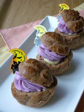 「【ハロウィン】シュークリーム」jacketpotato | お菓子・パンのレシピや作り方【corecle*コレクル】
