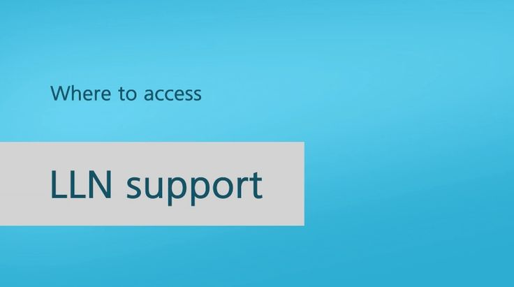 Where to access LLN support