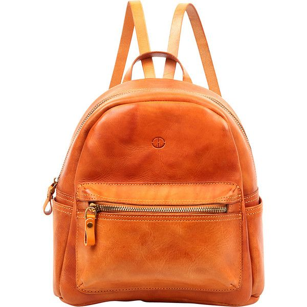 Foressence Kingston Backpack - Camel - Backpack Handbags ($176) ❤ liked on Polyvore featuring bags, backpacks, brown, orange backpack, day pack backpack, real leather backpack, backpack bags and day pack rucksack