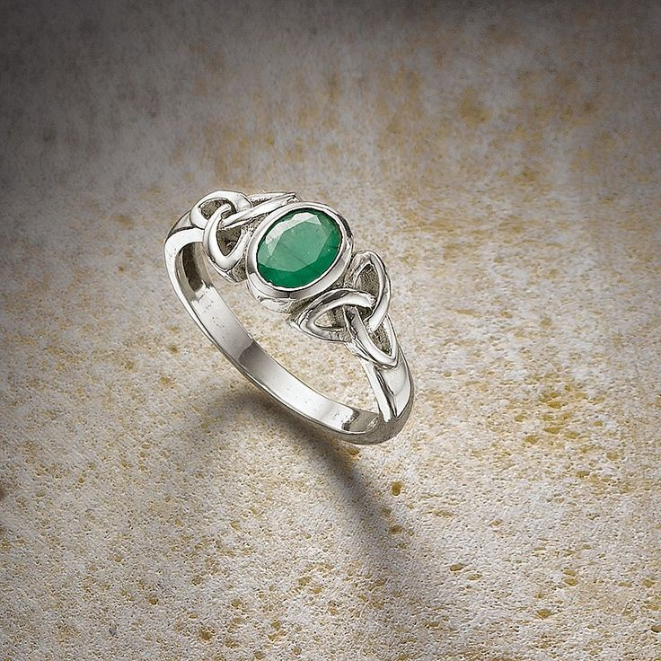 Celtic Emerald Ring