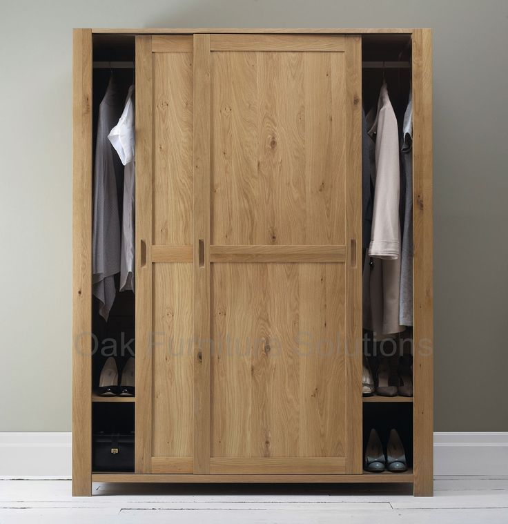 Oak Finish Sliding Closet Doors