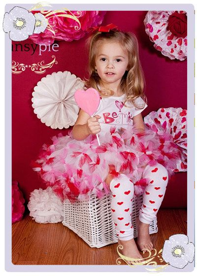 Toddler Valentine Outfit Girls Valentine Outfit Valentines Day Tutu Dress 2T 3T 4T. $45.50, via Etsy.