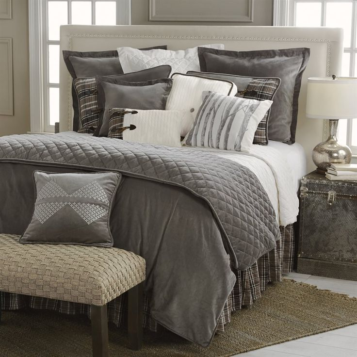 Silver Lodge Grey Comforter Sets - Lodge Bedding Set