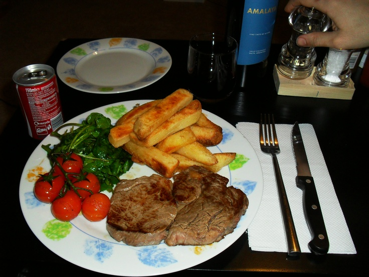 Steak and Chips at home in Brixton London