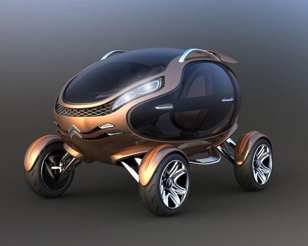 Citroen EGGO Concept Car.....As funky as an old Citroen 2CV, in a modern way!