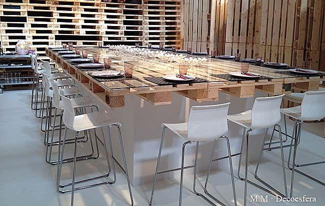 Comedor. Mesa palets