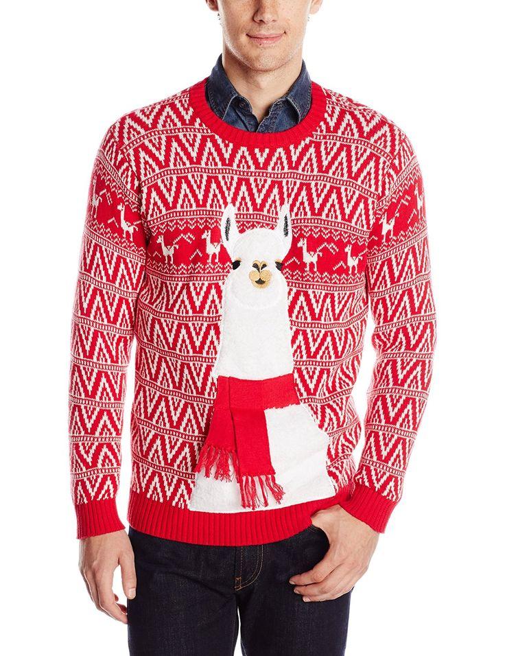 Blizzard Bay Men's Festive Llama Ugly Christmas Sweater at Amazon Men's Clothing store: