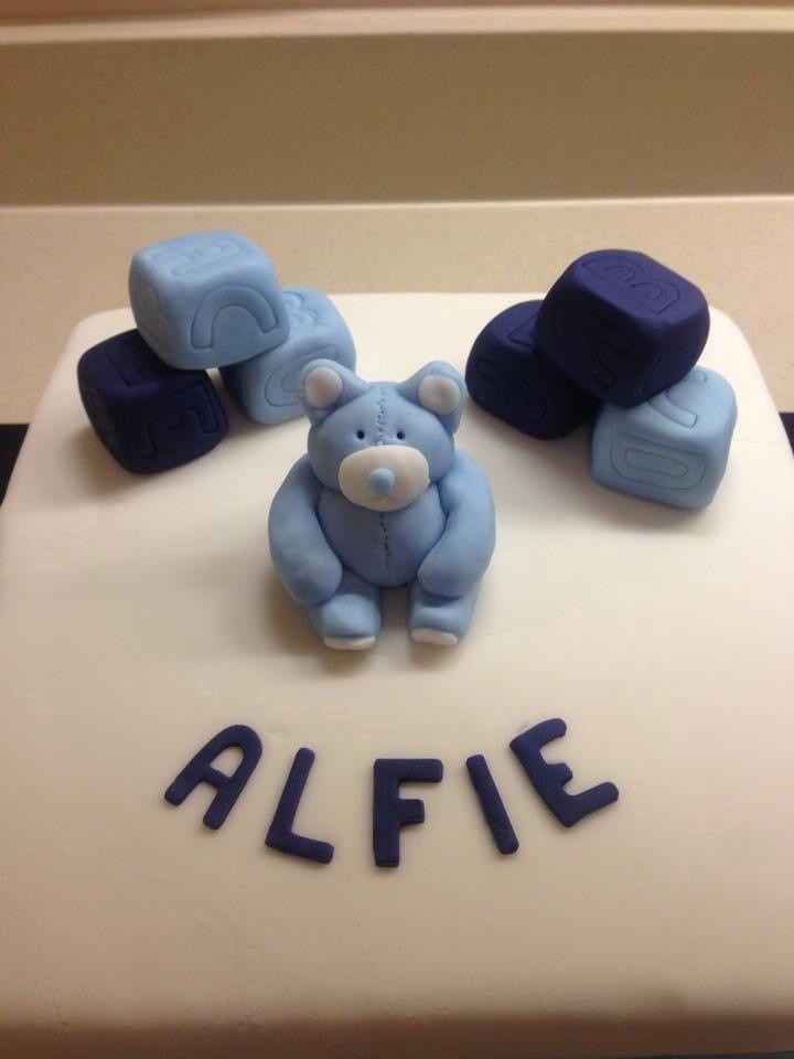 Alfie's Christening Cake