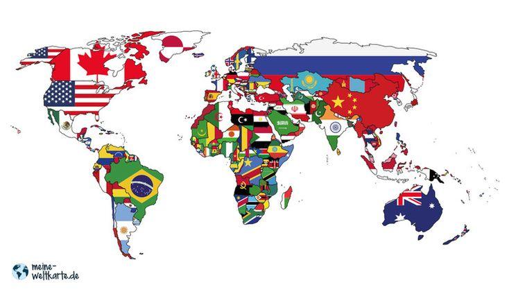 FARBIGE WELTKARTEN Alle unsere Weltkarte lassen sich auch ...