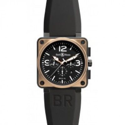 Bell & Ross Aviation BR 01-94 Rose Gold & Carbon Chronograph Watch