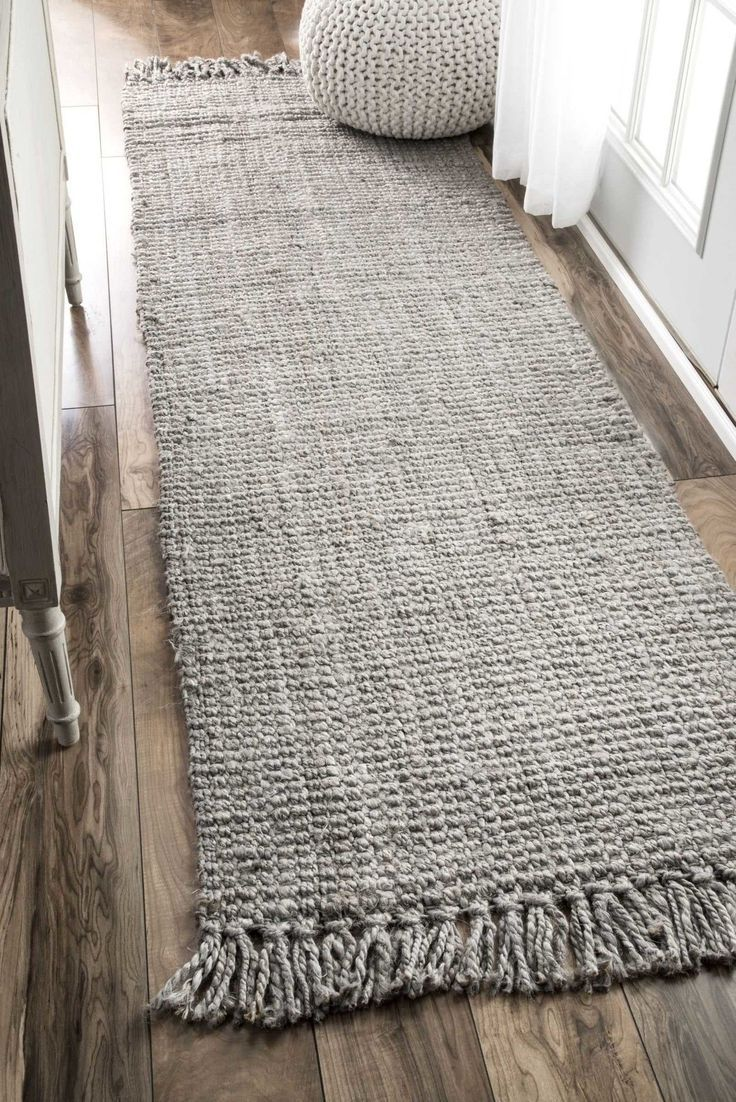 """Features: -Construction: Hand woven. -Material: 100% Jute/sisal. -Made in India. -Pile Height: 0.5"""". -Product Weight: 10 - 64 lbs. Technique: -Hand woven. Primary Color: -Gray. Material: -Jute"""