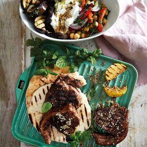 Lamb and eggplant pita