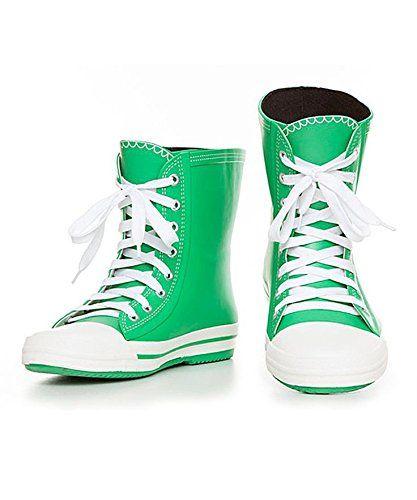 Elvetik Swiss Design Green Matte Rain Boots 'PARROT GREEN' women's * Click  image for