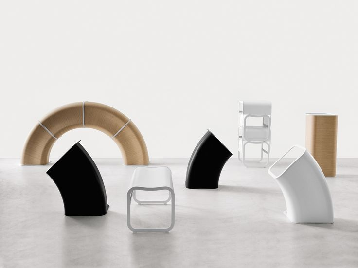 Lacquered Modular Bench ZA SYSTEM By Lapalma Design Shin Azumi Tomoko