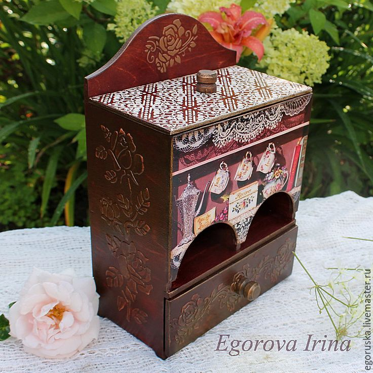 Купить Чайный домик Чайный буфет Розовый чай - бордовый, коричневый, чайный домик