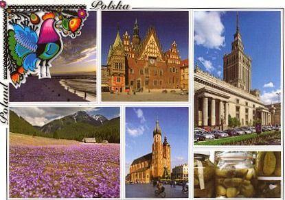 Первая открытка из Польши.   Пришла 11 марта 2012