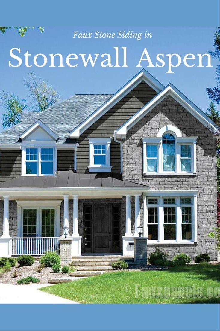 17 best images about design ideas exteriors on pinterest - Faux stone exterior siding panels ...