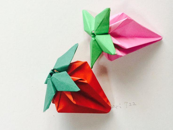 折り紙 「いちご」  Origami Strawberry
