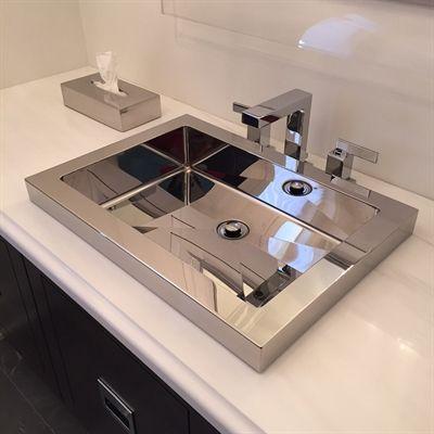 Cantrio Koncepts MS 023 Steel Series Stainless Steel Bathroom Sink