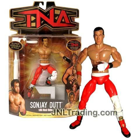 Marvel Toys Year 2006 Total Nonstop Action Wrestling TNA Series 7 Inch Tall Figure - SONJAY DUTT with Stunt Stairs