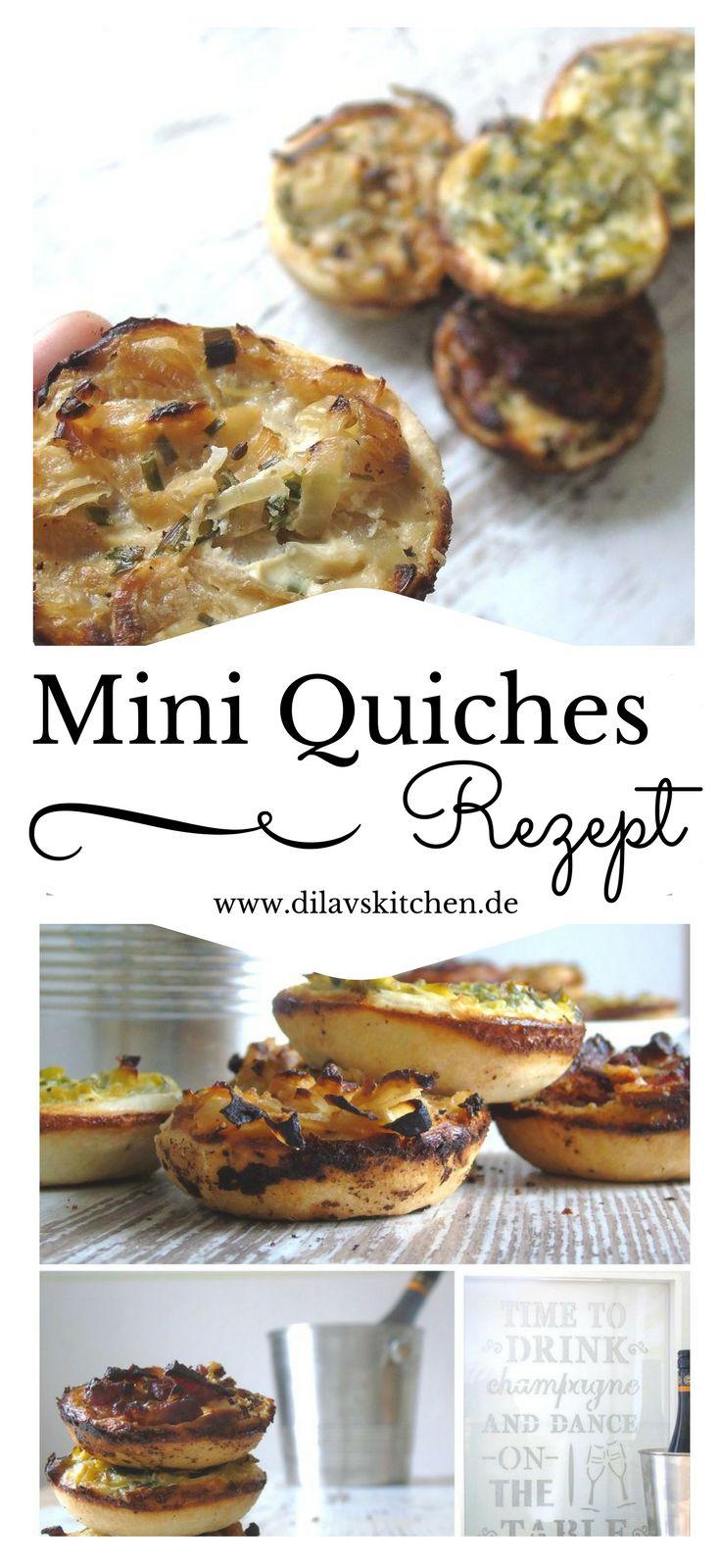 Diese Mini Quiches sind so klein und süß, dass garantiert niemand widerstehen kann. Ob auf dem Buffet, beim Brunch, als Mitbringsel zum Picknick oder einfach als kleiner gesunder Snack, die kleinen Leckerbissen gehen einfach immer. Hol dir das Rezept für die Mini Quiches jetzt auf www.dilavskitchen.de #rezept #foodblog #brunch #kleinigkeiten #snacks #buffet #quiche #miniquiche #lauch #speck #mürbteig