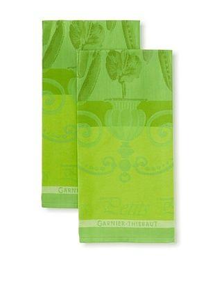 50% OFF Garnier-Thiebaut Set of 2 Petits Pois Kitchen Towels, Vert