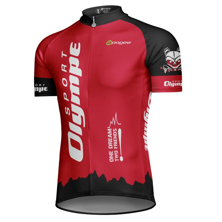 Cycling jersey - Designed and made by Apogee Sports.   Client : Sport Olympe