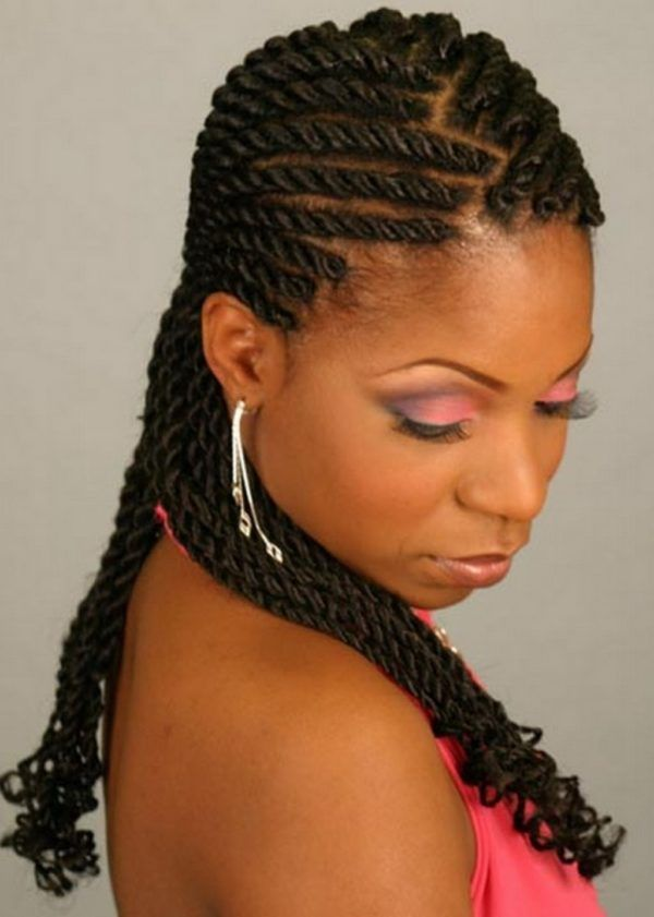Peachy 1000 Images About Braided Hairstyles For Black Women On Pinterest Hairstyles For Men Maxibearus