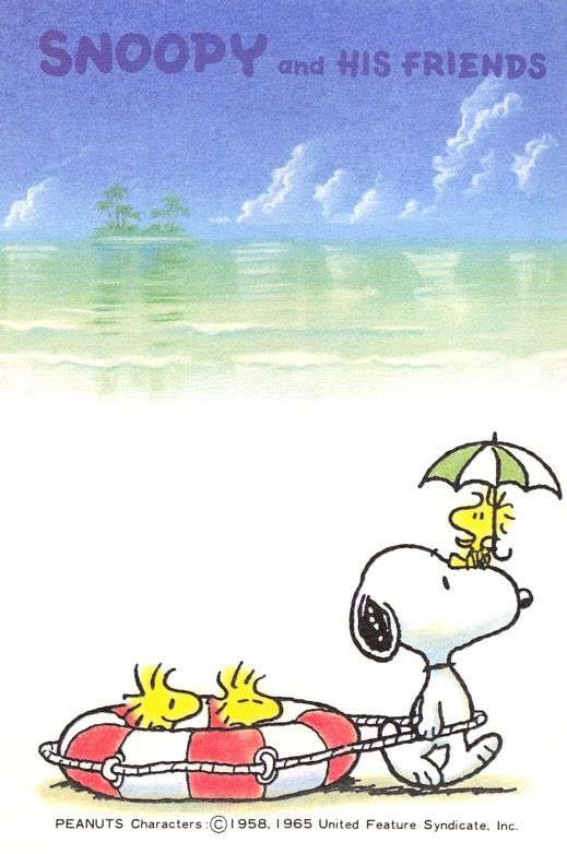 Beach snoopy