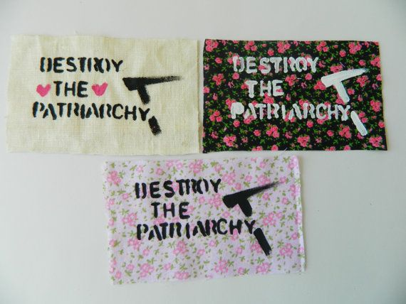 Destroy the Patriarchy feminist patch by ArtHippy on Etsy, $2.00