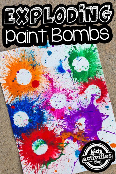 Exploding Paint Bombs- FUN!  Art and science
