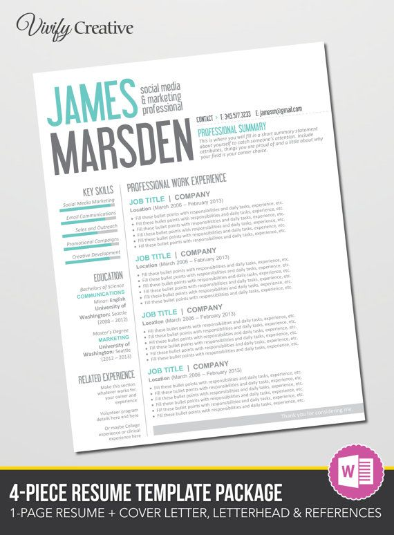Cover Letter References And Resume