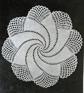 Entangling Designs Handmade Fashion and Gift Boutique: Spiral Doily - 1949 Vintage Crochet Pattern Free