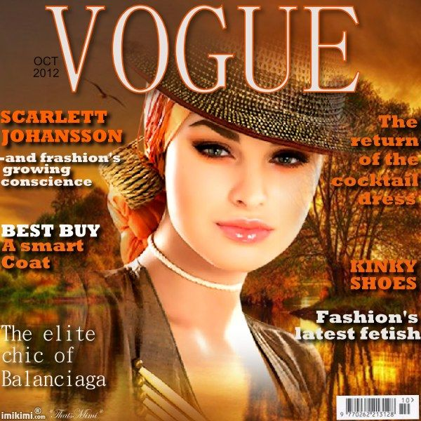 ~*~ Fall Magazine Cover! ~*~  click on it to put your face on the cover of Vogue! From Imikimi, a free photo collage site.