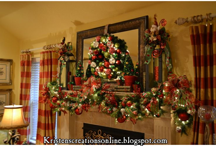 11 best Christmas mantle images on Pinterest Christmas time - christmas decorations for mantels