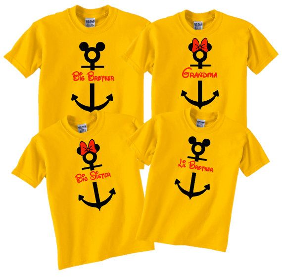 I made a custom order. I got blue shirts, tanks for the girls & Ts for the guys with our names.  They're so cute!  Hey, I found this really awesome Etsy listing at https://www.etsy.com/listing/218015026/personalize-disney-cruise-family