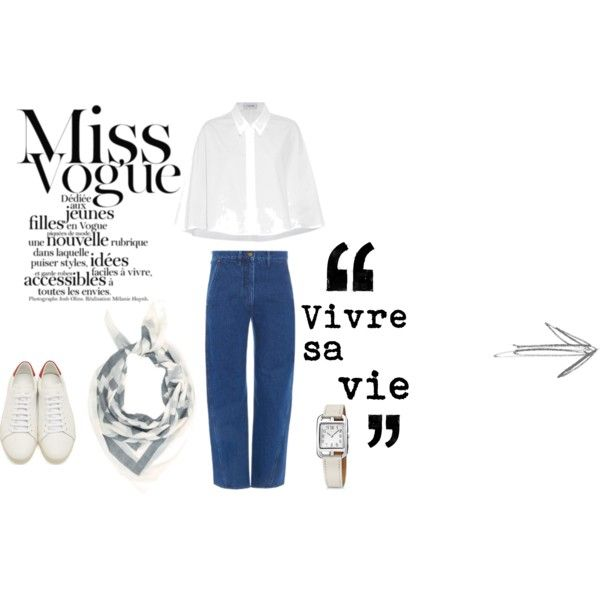 La parisienne: vivre sa vie by florenzcollection on Polyvore featuring moda, Lemaire, Yves Saint Laurent and Hermès