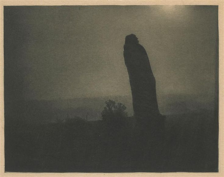 Edward Steichen, Balzac - The Silhouette, 4 a.m., 1911, héliogravure