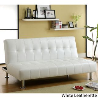Ashley Furniture In Burbank Furniture of America Modern Tufted Futon/Sofabed with Storage Pockets ...
