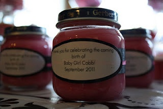 baby shower favor - add a poem to ask for a prayer for the baby when lighting candle