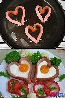 serduszka na śniadanie