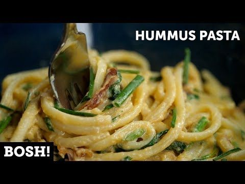 HUMMUS PASTA   BOSH!   VEGAN - YouTube