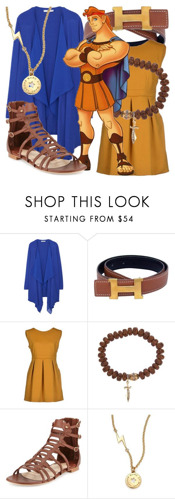 """""""H is for Hercules"""" by fabulousgurl ❤ liked on Polyvore featuring MANGO, Hermès, G2Choice, Loree Rodkin, Paul Andrew, Marc by Marc Jacobs, hercules and disneybound"""