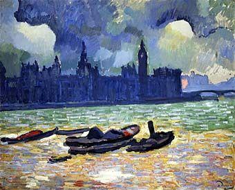 Vista nocturna del Parlamento (1906)