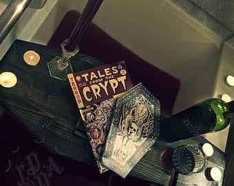 Coffin Bath Tray, Bath Caddy, Bathtub Tray, Bath Rack, Gothic, Goth, Horror, Coffin, Macabre, Bath Bomb Tray, iPad IPhone holder, Cup Holder