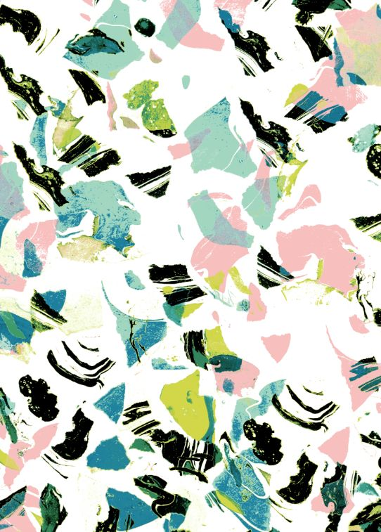 Abstract pattern inspiration in a spring colour palette #textiles #print #abstract